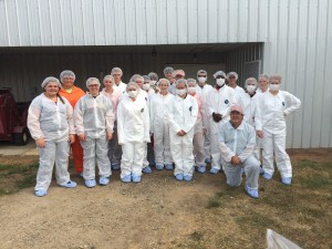 PSSI participants in white coveralls and personal protective equipment
