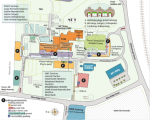 labeled map of the CVM campus