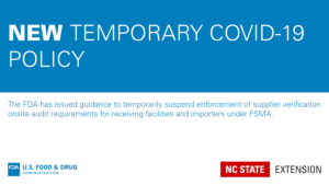 FDA temporary COVID-19 policy graphic