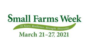 Small Farms Week 2021 logo banner